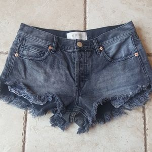 We the Free Loving Good Vibrations Cutoffs shorts
